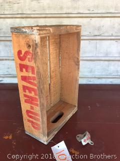 Seven-Up Wooden Crate.