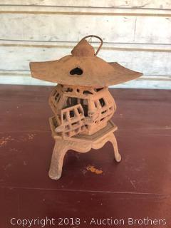 Vintage Cast Iron Pagoda Garden Lantern