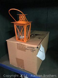 6 Orange Lanterns