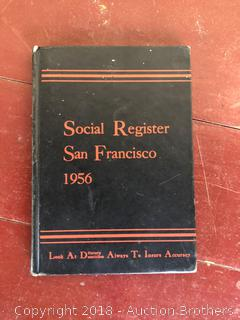 1956 Social Register San Francisco