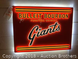 Bulleit Bourbon Giants Light Up Sign