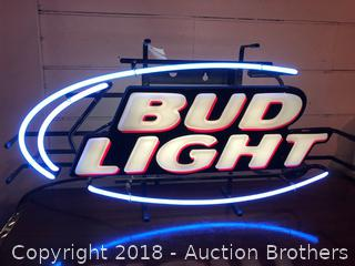 Bud Light  Neon Light Up Sign