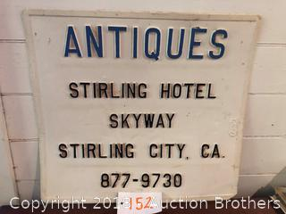 Stirling Hotel Sign