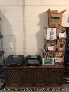 Record/Cassette Player and Huge Lot Of Records!