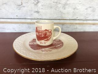 Diamond Match Company Plate and Cup
