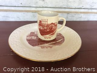 Diamond Match Company Cup and Plate