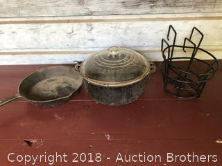 Cast Iron Pot and Pan