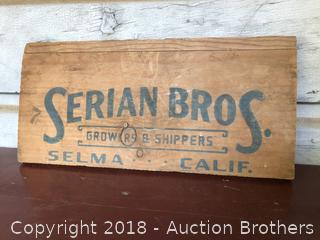 Serian Bros Wood Sign
