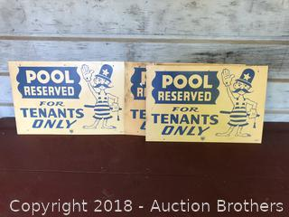 Three Pool Signs