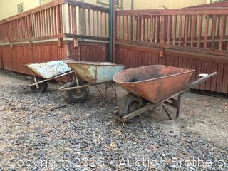 Three Wheelbarrows