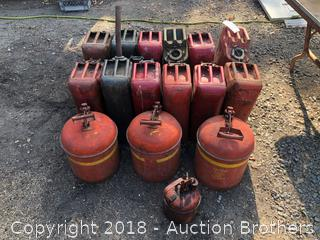 Approx. 16 Gas Cans