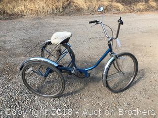 Vintage Three Wheel Ret Bar Bicycle