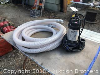 Electric Pool Pump and Hose