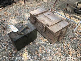 Ammo Box and Wood Box