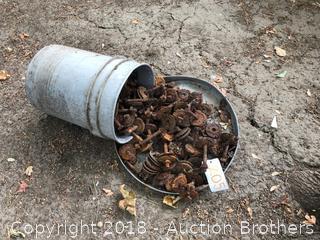 Bucket of Vintage 1/2 Washers