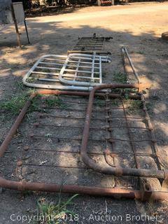 Three Antique Bed Metal Frames