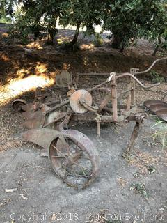 Antique Plow with Wheels