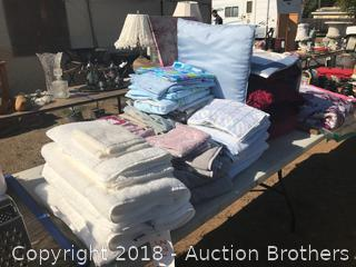 Towels, Sheets, Bed Spread and Pillow Shams, Quilt, Table Cloths