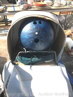 Bowling Ball, Shoes and Carrying Case