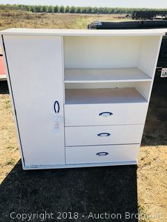 Nice White Dresser And Shelf