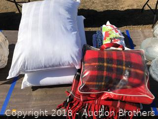 Plaid Blankets, Pillows and Aprons