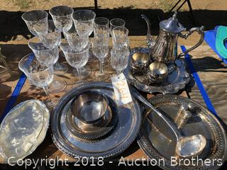 Beautiful Glasses, Platters, Tea Pot and more
