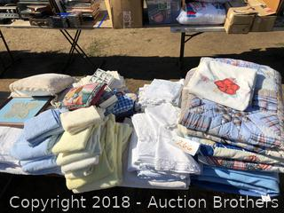 Towels, Pillows, Blankets, Quilt, Napkins and Rings and more
