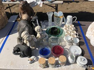 Crystal Vases, Candles, Lantern, Cups, Bears and more