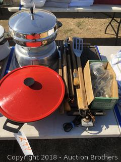 Electric Wok, Electric Griddle, Electric Skillet, BBQ Tools, Hand Crank Meat Grinder