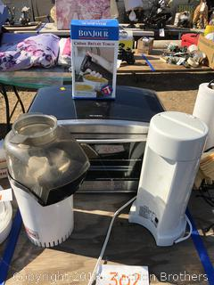 Toaster Oven, Creme Brûlée Torch, Air Popcorn Popper