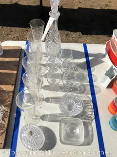 Crystal Decanter, Candy Dishes and more