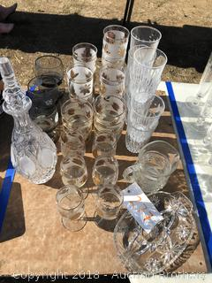 Crystal Decanter, Glasses and more