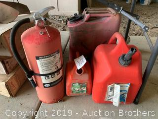 Gas Cans/Extinguisher