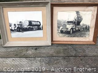 Two Framed Truck Pictures