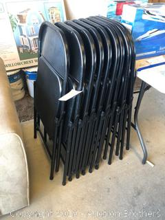 Nine Almost New Metal Chairs