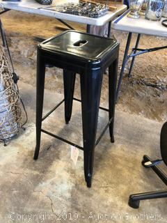Nice Black Metal Stool