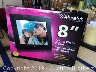 "New 8"" Aluratek Digital Photo Frame"