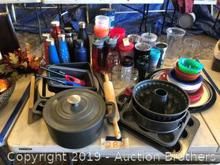 Kitchen Pans, cups and more