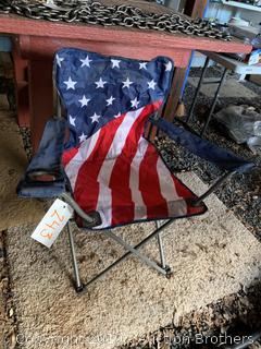 Flag design collapsible chair