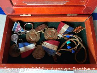 Medals and wood box