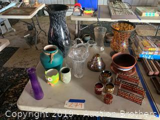 Vases, candle holders and more