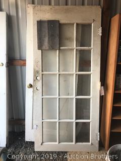 Two vintage doors