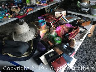 Hats, wallets, jewelry and boxes