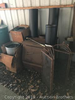 Wood Stove, pipe, screen and more