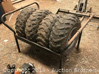 Quad tires and stand