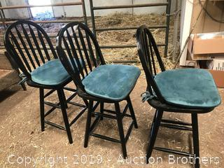 Three bar chairs and pads