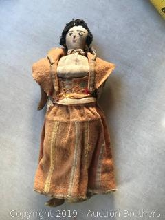 Antique hand-made doll