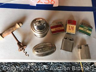 Vintage Lighters and cork screw