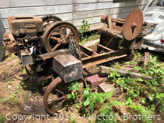 Vintage Saw Yard Art