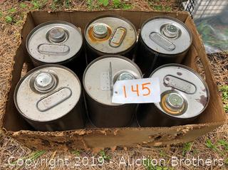 Six new Metal Cans